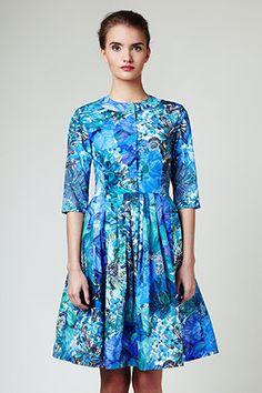 SALE shirtwaist dress made of Liberty cotton por mrspomeranz