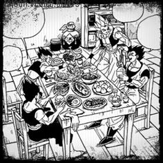 Happy #thanksgiving  A bit late but oh well. - Sadly it doesn't get celebrated here  •—————————————————————————• #db - #dragonball - #dbz - #dragonballz - #dbgt - #dragonballgt - #dbs - #dragonballsuper - #dbm - #dragonballmultiverse - #IGDBZFamily - #DbzEdit - #vegito - #manga - #gogeta - #anime - #gohan - #gotenks