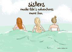 Art for Sisters Sister Wall Art - Digital Art Print - Sisters- Girls Room Art-- Print