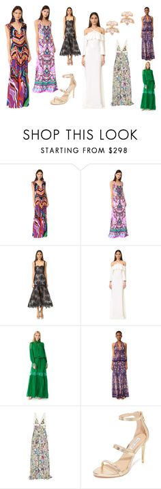 """""""maxidress fashion"""" by monica022 ❤ liked on Polyvore featuring Roberto Cavalli, Monique Lhuillier, Rachel Zoe, Kate Spade and vintage"""