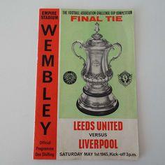 Vintage 1965 Leeds United Versus Liverpool Football Soccer FA Cup Final Programme  Wembley Don Revie by VintageBlackCatz on Etsy