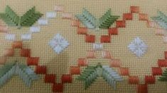 Basic Embroidery Stitches, Hardanger Embroidery, Creative Embroidery, Embroidery Patterns, Hand Embroidery, Bargello Patterns, Bargello Needlepoint, Cross Stitch Borders, Cross Stitch Patterns