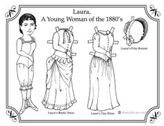 Laura Ingalls Paper Doll to Color by UncommonNonsense on Etsy, $4.00