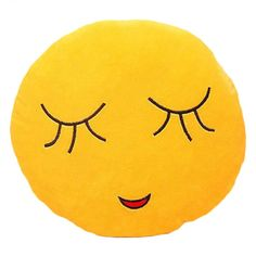Shy Emoji  Large Pillow