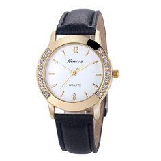 Geneva Wrist Watches Women Watches 2016 Famous Brand Female Clock Quartz Watch Ladies Quartz-watch Montre Femme Relogio Feminino