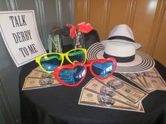 Fun photo booth props for our Kentucky Derby Party!