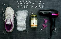 diy coconut oil hair mask // materials needed Coconut Oil Uses For Skin, Hair Mask For Dandruff, Very Easy Hairstyles, Coconut Oil Hair Mask, Hair Skin Nails, Moisturize Hair, Health And Beauty Tips, Homemade Beauty, Skin Treatments