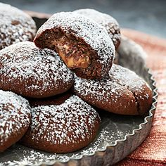 Chocolate Crinkle Candy Surprise Cookies Recipe | MyRecipes.com