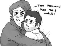 """""""Sam what-"""" """"our little soldier"""" """"no I'm an angel of The Lord"""" Sam And Dean Supernatural, Supernatural Drawings, Supernatural Fandom, Castiel, Spiritus, Business Checks, The Infernal Devices, Sam Winchester, Superwholock"""