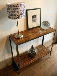 Industrial Style Console Table by ppmwoodshop on Etsy