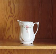 Art deco 1930s porcelain Creamer with lovely pink by EbyglassETC, €11.70