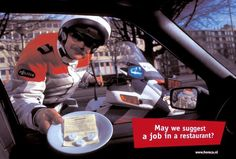 "Recruitment: ""MOTORCYCLE POLICEMAN"" Print Ad  by D'arcy"