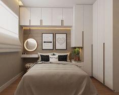 Small Bedroom Interior, Small Apartment Bedrooms, Small Apartment Design, Small Master Bedroom, Master Bedroom Makeover, Modern Bedroom Design, Guest Bedrooms, Bedroom Decor, Bedroom Makeovers