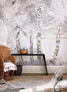 Christian Lacroix wallpaper Croisette - nacre for Designers Guild Living Room Modern, Living Room Designs, Christian Lacroix Wallpaper, Living Etc, Deco Boheme, Designers Guild, Home And Deco, Modern House Design, House Colors