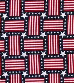 Stars N Stripes Fabric Flag Squares