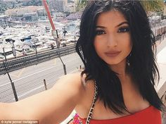 Kylie Jenner, 17, and Tyga make a pit stop at the Monaco Grand Prix #dailymail