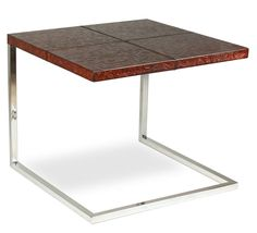 Laptop Table Leather & Steel Hardwood Handmade New Free Shipping #Handmade #Contemporary