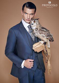 8990a5fbb5 Traje Alcutar en azul. Última tendencia para  novio  trajenovio  traje   boda  ceremonia