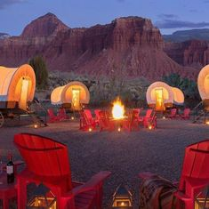 If your ideal version of being outdoorsy involves sipping wine in an Adirondack chair outside of a yurt or a canvas safari tent, here are the best glamping and luxury camping spots across the United States. Camping Resort, Utah Camping, Camping Spots, Camping Ideas, Camping Supplies, Camping Essentials, Camping Places, Camping Guide, Camping In The Rain
