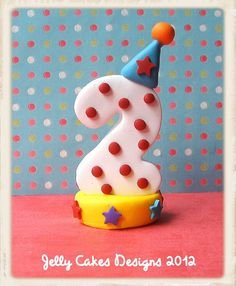 number cake topper by jelly beads, via Flickr