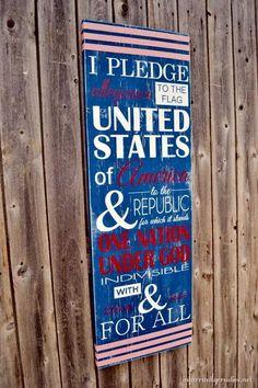 DIY pledge of allegiance subway art
