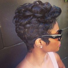 African American Women Hairstyles: Short Curls