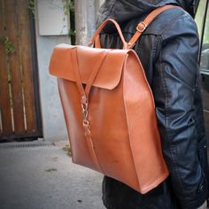 Leather man backpack. Designed by Ludena.