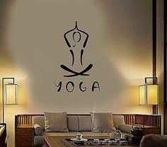 Vinyl Decal Yoga Meditation Buddhism Hinduism Hindu Wall Stickers Mural VS406 -- Find out more about the great product at the image link. (Note:Amazon affiliate link)
