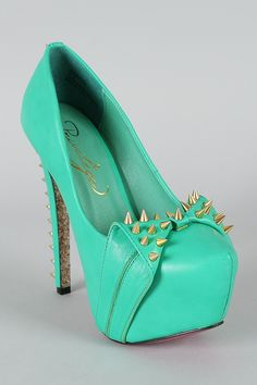 Privileged Anette Studded Spike Bow Platform Pump $69