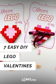 Weve found some of the cheapest and most creative options to express your kids ever-dying love of all things LEGO. Check out these 7 easy DIY LEGO Valentines. Lego Valentines, Valentine Day Crafts, Diy For Kids, Crafts For Kids, Easy Crafts, Fun Activities, Winter Activities, Presents For Her, Mom Jewelry