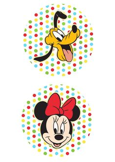 Uau! Veja o que temos para Toppers para Doces Minnie e Pluto