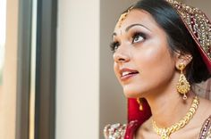 Stunning lashes for an indian bride