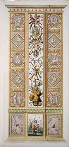 Raphael pilaster 4) from the Raphael Loggia at the Vatican, from 'Delle Loggie di Rafaele nel Vaticano', engraved - Ludovicus Tesio Taurinensis _BM