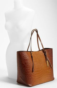 Michael Kors Croc Embossed Leather Tote | Nordstrom
