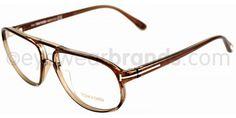 Tom Ford TF 5296 Tom Ford TF5296 050 Crystal Brown Glasses | Eyewear Brands