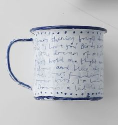 Enamel mug. If they'd just credited the lyrics properly it would be perfect.