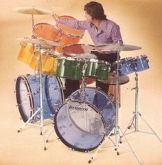 Jellybean Vistalite kit from Ludwig's 1974 catalog.