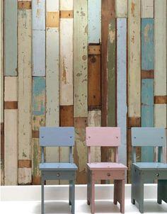 Reclaimed Wood Wallpaper