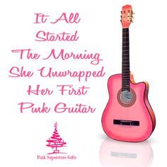 Pink Guitar Sale From Pink Superstore. Featuring Pink Guitars, Acoustic Guitars, Pink Acustic Guitars, Pink Guitar & More. Pink Music, Music Love, Pink Piano, Pink Guitar, Pink Christmas, Christmas Ideas, Christmas Gifts, Love Lily, Guitars For Sale