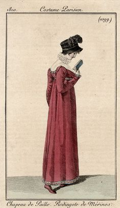 Costume Parisien 1810, Chapeau and Redingote. Sleeve.