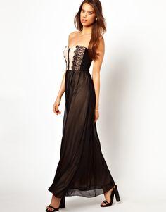 Elise Ryan | Elise Ryan Bandeau Maxi Dress in Lace at ASOS