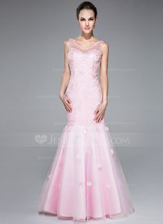 Prom Dresses - $156.99 - Trumpet/Mermaid V-neck Floor-Length Tulle Lace Prom Dress With Beading Sequins (007040797) http://jenjenhouse.com/Trumpet-Mermaid-V-Neck-Floor-Length-Tulle-Lace-Prom-Dress-With-Beading-Sequins-007040797-g40797