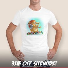 Discover «Crazy hedgehog», Numbered Edition Men's Classic T-Shirt by Anastasiya Melnikova - From $25 - Curioos
