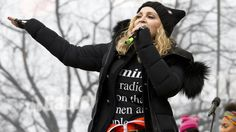 """I am not a violent person."" Madonna defends remarks she made at the Women's March on Washington, when she said that she ""thought an awful lot about blowing up the White House."" The singer said that her comment was a metaphor and was taken out of context. http://abc7ne.ws/2kgvfFK"