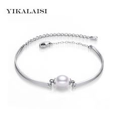 2017 Charm Bracelet Bangles Pearl Jewelry Natural Freshwater Pearl Bracelets 925 Sterling Silver Jewelry Bracelet For Women
