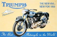 Classic Bike Poster Steve Dunn Triumph 3TA Motorcycle Limited Edition Print