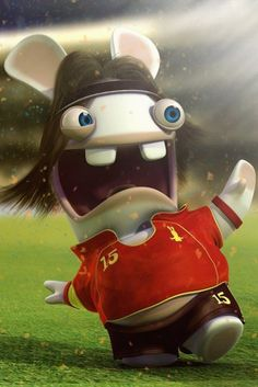 Rayman Raving Rabbids, when you playing wii you will see this funny little guy~!