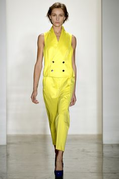 #Alexandre Herchcovitch - Spring Summer 2013 Ready-To-Wear   #Trend Yellow #Trend Pant Suit