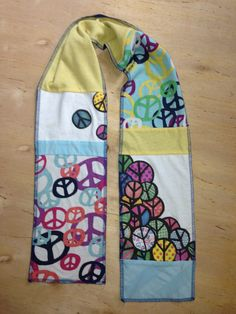 TShirt Scarf Upcycled Kids Peace Signs Galore by OneTallTree #teamupcyclers