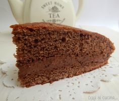 Torta al cioccolato con mousse panna e nutella | Oggi si cucina